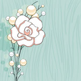 Rose and Pearls Background Stock Images