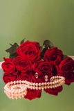 Rose and pearls Royalty Free Stock Images