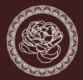Rose, peinture décorative Illustration Stock