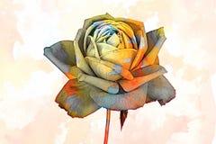 Rose pendant des vacances sur le fond de texture images libres de droits