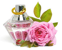 Rose and perfume Stock Photo