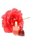 Rose perfume bottle Stock Photos