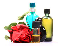 Rose perfumes Royalty Free Stock Images