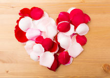 Rose petal form heart shape Stock Photo
