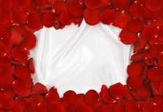 Rose Petal Frame Royalty Free Stock Photo