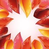 Rose petal frame Stock Image