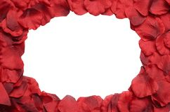 Rose petal frame Royalty Free Stock Photos