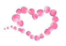 Rose Petal Heart Stock Photography