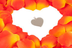 Rose Petal Heart Royalty Free Stock Image