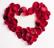 Free Rose Petal Heart Stock Images - 31054314