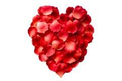 Rose Petal Heart Imagen de archivo
