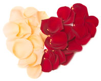 Rose petal heart Royalty Free Stock Images
