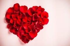 Rose Petal Heart Stock Photo