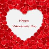 Rose petal heart Stock Photos
