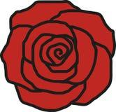 Rose petal icon. Flower blossom vector stock illustration