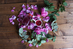 Rose Petal Jam. Pink petals, natural recipe royalty free stock photography