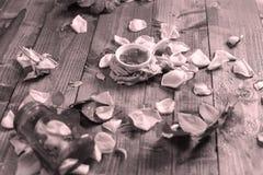Rose Petal Jam. Roses Petal Jam, natural recipe, a wooden background royalty free stock image