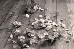 Rose Petal Jam. Roses Petal Jam, natural recipe, a wooden background stock photography