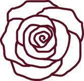 Rose petal outline. Blossom vector vector illustration