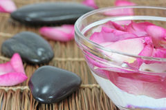 Rose petal spa Royalty Free Stock Photos