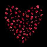 Rose Petals Bokeh Heart Royalty Free Stock Image