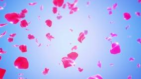 Rose Petals Falling (ögla) royaltyfri illustrationer