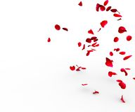 Rose petals falling on a surface royalty free illustration