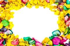 Rose petals frame stock photography