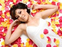 Free Rose Petals Girl Stock Photos - 3673183