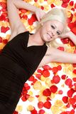 Rose Petals Girl royalty free stock images
