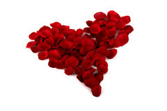 Rose petals Heart Stock Photos