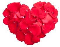 Rose petals heart  Royalty Free Stock Photos
