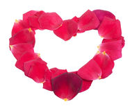 Rose petals heart Royalty Free Stock Image