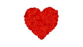 Rose Petals Heart, avec le canal alpha illustration de vecteur