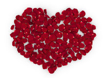 Rose petals heart HQ Cclean 3D render Stock Photos