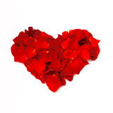 Rose petals heart Royalty Free Stock Images
