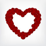 Rose petals heart-shape Royalty Free Stock Image