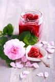 Rose petals homemade jam Stock Image