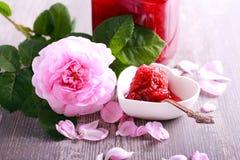 Rose petals homemade jam Royalty Free Stock Photos