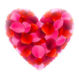Rose Petals Love Heart Royalty Free Stock Image