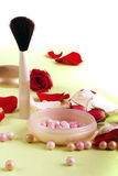 Rose petals and pouder Royalty Free Stock Photo