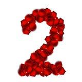 Rose Petals Realistic Number Vector-Illustratie Royalty-vrije Illustratie