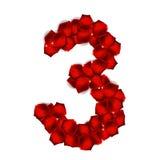 Rose Petals Realistic Number Vector illustration Fotografering för Bildbyråer
