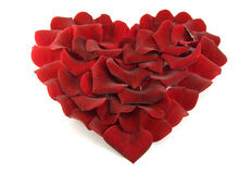 Rose petals in a shape of a heart Stock Photography