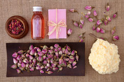 Rose petals spa Royalty Free Stock Images
