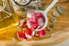 Rose Petals for Spa Royalty Free Stock Photo