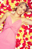 Rose Petals Woman Royalty Free Stock Photo