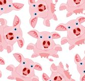 Rose piglet pattern. Bestial Pattern piglet on white background is insulated Stock Images