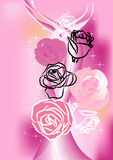 Rose on pink background Royalty Free Stock Photos
