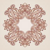 Rose pink floral pattern. Abstract florid pattern in pastel rose pink shades Royalty Free Stock Images